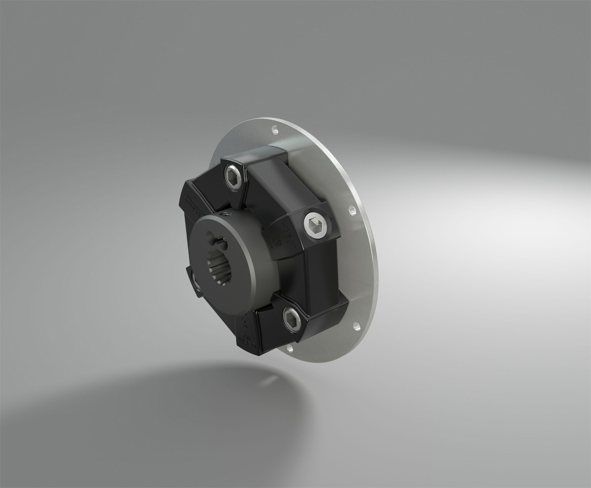 Torsional coupling of the LF series from R+L Hydraulics