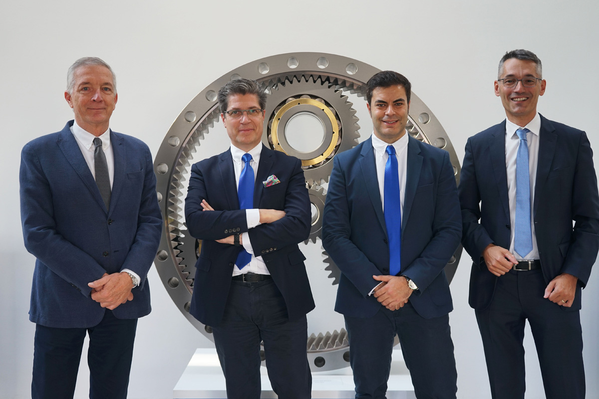 Fersa Group management (from left to right): Karl A. Nitsch, Chairman of the Board; Carlos Oehling, CEO of the Fersa Group; Jesús Monforte, sales director of NKE; Thomas Witzler, managing director of NKE