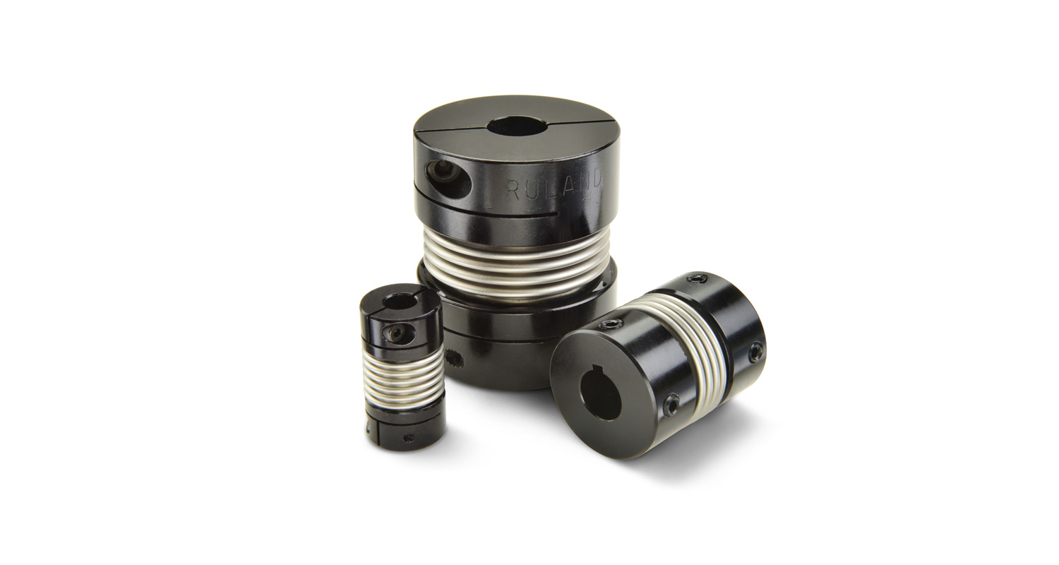 Ruland now offers bellows couplings with bore sizes up to 1-1/4 inch or 32 mm
